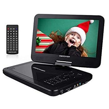 DBPOWER 12 Portable DVD Player with 5-Hour Rechargeable Battery