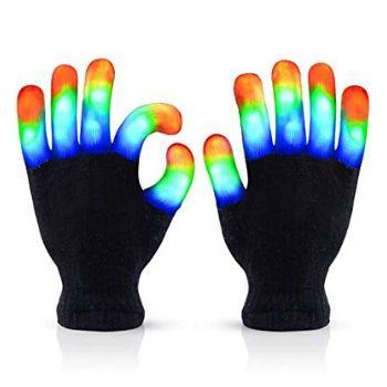 The Noodley Flashing LED Finger Light Gloves