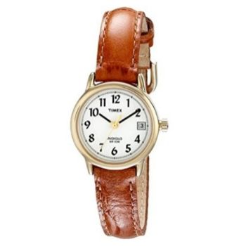 Timex Women's Indiglo Leather Strap Watch
