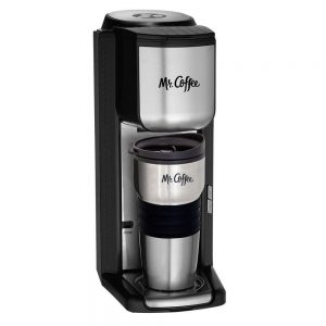 Mr. Coffee Single Cup Coffee Maker with Built-In Grinder